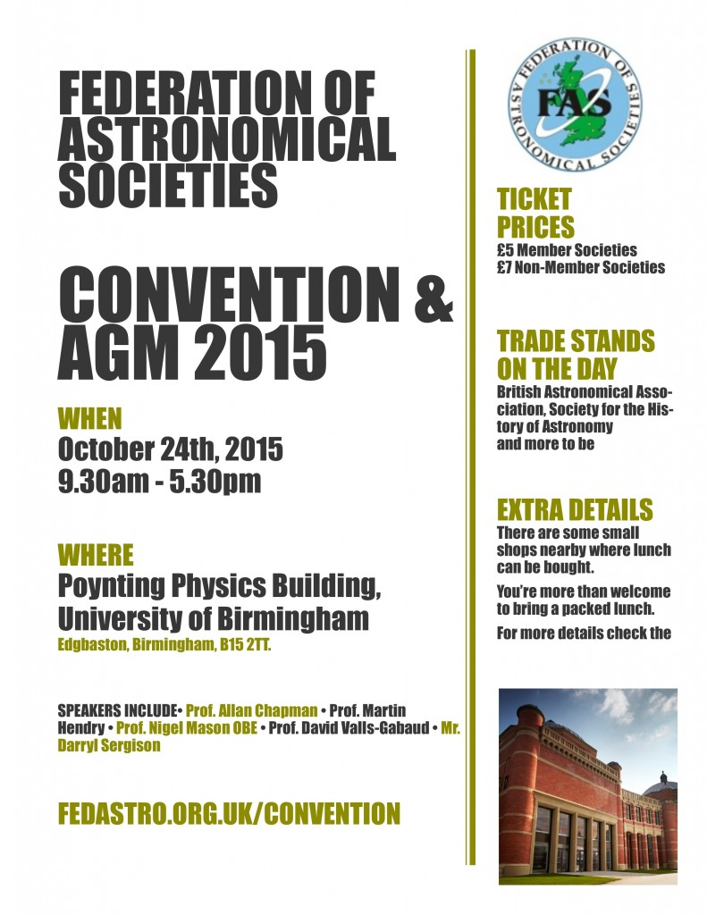 FAS Convention 2015 Poster